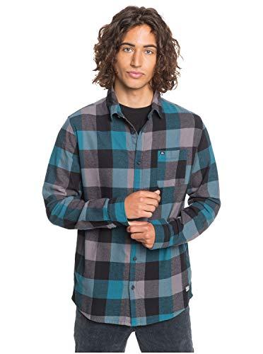 Quiksilver Flannel-Camisa De Manga Larga para Hombre, Blue Coral Motherfly, XXL