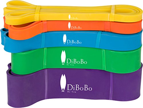 DiBoBo Heavy-Duty Workout Loop Resistance Bands for Men and Women