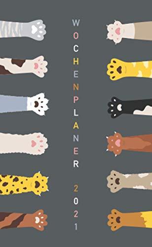 Wochenplaner 2021 - Katzenpfoten - Animo Agenda: Taschenkalender 2021 | Schulplaner | Kleinformat (10x16,5 cm) | Um alle Ihre Termine und Aufgaben von Januar bis Dezember 2021 zu notieren | 112 Seiten