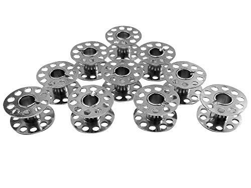 ZickZackNaehmaschine Bobinas de Metal para máquinas de Coser Singer Mercury 1507, 8280 (10 Unidades)