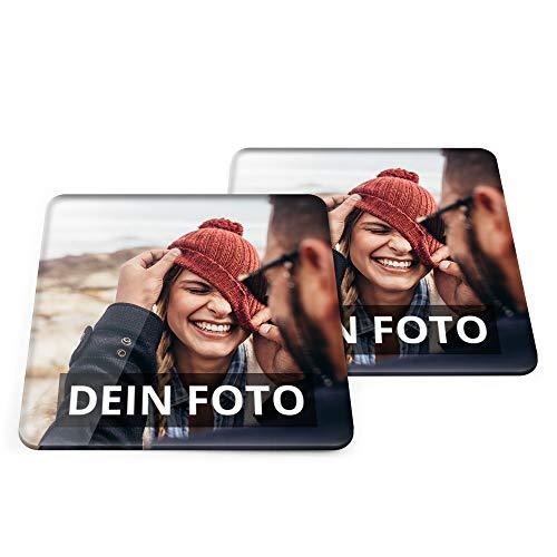 PhotoFancy Bierdeckel mit Foto personalisiert - Personalisierbare Bierdeckel Bedrucken (Eckig) (Acrylglas, 10er Set)