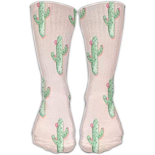 Bequemer erwachsener kniehoher Socken-blühender Kaktus druckte Mannschafts-jugendlich Mädchen-Turnhallen-Socken-Strumpf