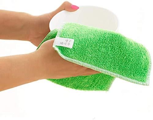 YJLGRYF Lappen Dishcloth Spülküche Werkzeug Antifett- Dish Washing Handtuch Großes Auto Putzlappen (Color : Green, Size : 4 pcs)
