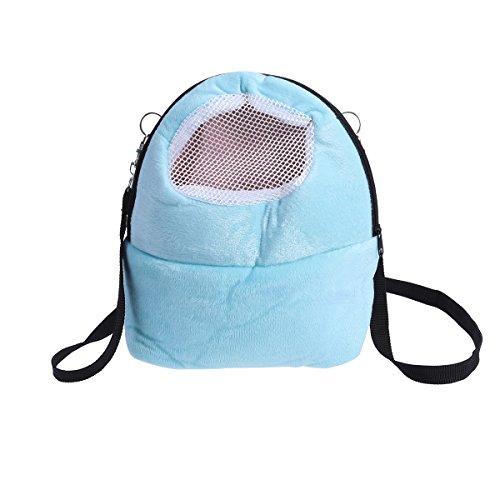 UEETEK klein Haustier-Tragetasche Hamster Igel Reisetasche Rucksack mit Atmungsaktiv Netzfenster Größe L (Blau)