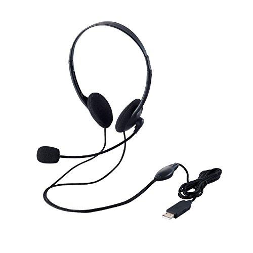 『エレコム ヘッドセット マイク USB 両耳 オーバーヘッド 1.8m HS-HP27UBK』の4枚目の画像