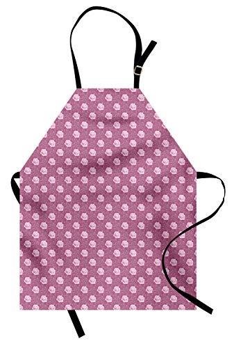 ABAKUHAUS romance Keukenschort, Rose Bouquets Corsage, Unisex Keukenschort met Verstelbare Nekband voor Koken en Tuinieren, Baby Pink Droog nam