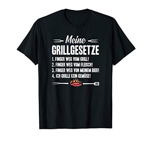 Grill Shirt Grillgesetze für Grillfans