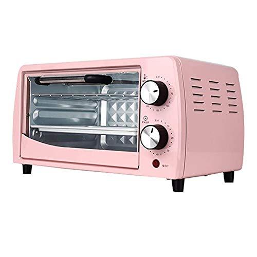 Fornetto Elettrico, 12l Mini Multifunzione, Per Uso Domestico a Doppio Strato Cottura Automatica 800w Tensione Nominale 110v Rosa Multifunzione Tostapane Convezione