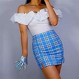 WEIYYY Lange Latexhandschuhe Faux Shine Lackleder 35 & quot;90cm Hologramm Silver Shine Damen...