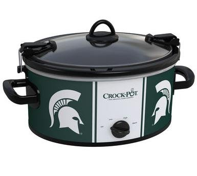 Collegiate Crock-Pot Cook & Carry Slow Cooker - 6 Quart (Michigan State Spartans)