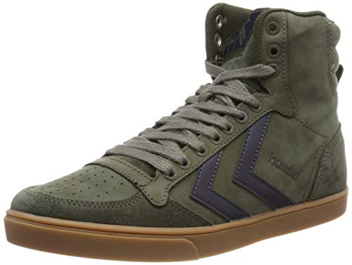 Hummel Herren Stadil Rubber Hohe Sneaker High-Top, Grün (Olive Night 6453), 45 EU