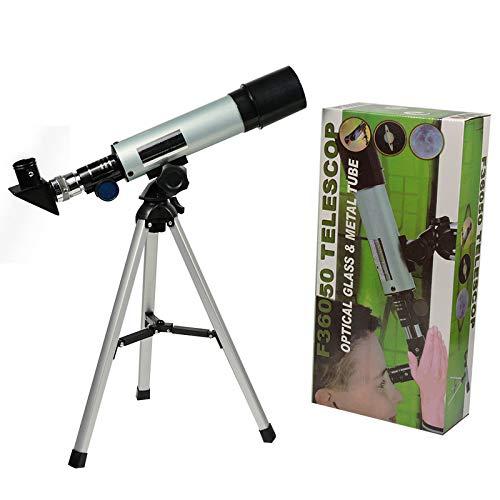 DZAER Telescopio astronómico con el trípode Profesional telescopio monocular Zoom telescopio terrestre...