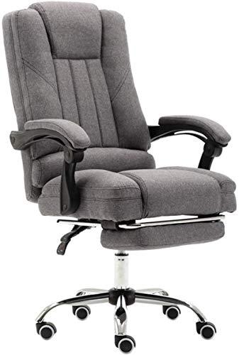 ZHEYANG Sillas Gamer Gaming Chair Silla de Escritorio con el sueño de Verano Mat y reposapiés Ajustable ángulo de reclinación de Bloqueo del Sistema Gris (Color : #1 Steel Feet)
