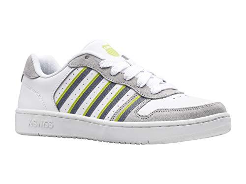 K-Swiss Herren Court Palisades Sneaker, White/TRDWND/LVB, 42.5 EU