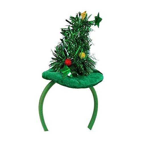 Cosanter Moda Árbol de Navidad Diadema Creativo Niño Niña Tela Diadema Accesorios para el Cabello de Decoración...