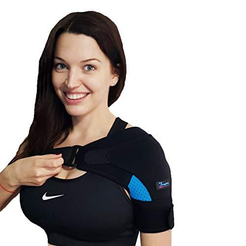 Shoulder Support Brace for Men and Women by Zeegler Orthosis - Adjustable Wrap   Compression and...