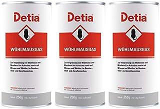 Detia Wühlmausgas 750 g - Vergrämungsmittel gegen Wühlmäuse und Maulwürfe. Keine Wartezeiten. Nicht bienengefährlich. Ganz...