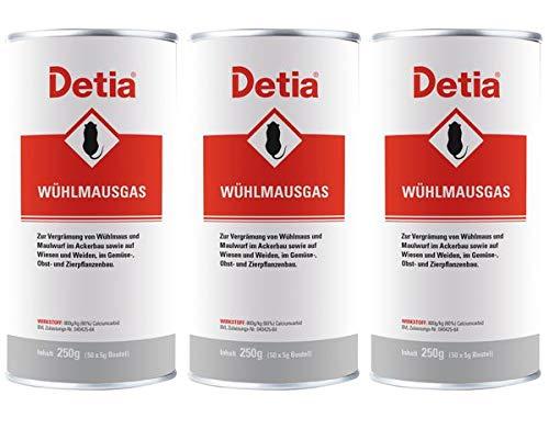 Detia Wühlmausgas 750 g - Vergrämungsmittel gegen Wühlmäuse und Maulwürfe. Keine Wartezeiten. Nicht bienengefährlich. Ganzjährig im Garten anwendbar.