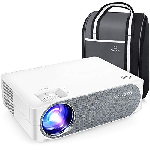 "VANKYO Performance V630 Proiettore 6800 Lux, Videoproiettore 1080P Nativo Full HD Support 4K, Display da 300"" 50° Correzione, con Borsa Portatile, per iOS Android TV Stick Casa Ufficio PPT"