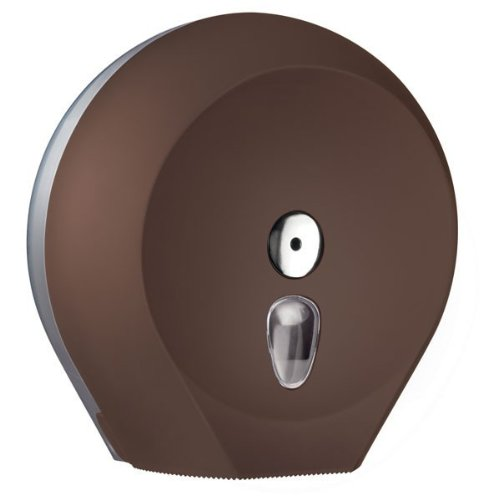 Mar Plast A75810MA portable Toilettenpapier, Jumbo, olori: Braun 'Soft Touch'/durchsichtig, 335 x 128 x 128mm