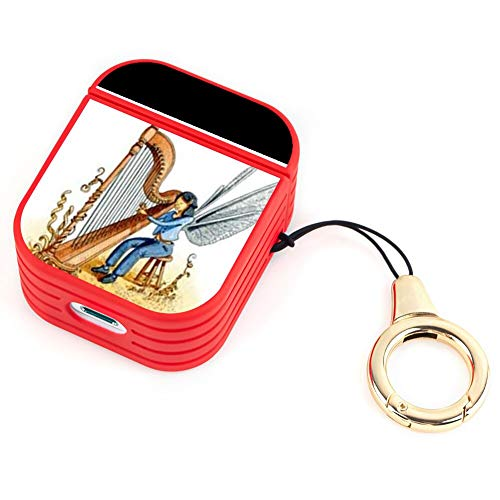 OOK Earphone Case AirPods 1/2 Case Autoharp Flexible TPU Magnet Shockproof Protective Shell AirPods Charging Compartment Box Lanyard
