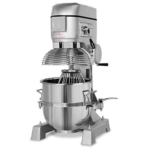 vertes 40 Liter Profi Teigknetmaschine mit Planetenrührwerk (40 Liter Rührschüssel, 2000 Watt Elektromotor, umfangreiches Zubehör)