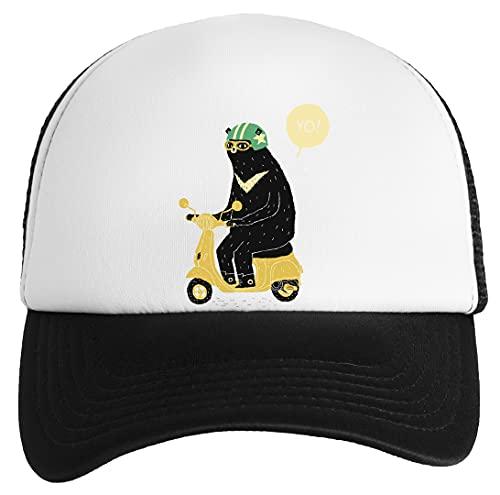 Gunmant Soportar Equitación Scooter Gorra Clásica De Béisbol para Niños y Niñas Unisex Ajustable Snapback Baseball Cap Kids