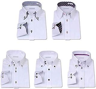 (ビジネススタイル アルフ) 選べる ワイシャツ 5枚セット デザイン多数 長袖 メンズ Yシャツ/al101