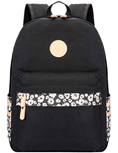 Mygreen Casual Style Canvas Backpack/School Bag/Travel Daypack Black