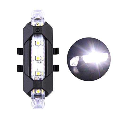 FSHB Wiederaufladbare LED-Rücklicht-Fahrradleuchte Fahrradleuchte USB-Sicherheitswarnung Rücklicht Fahrradleuchte Tragbares Blitzlicht Superhelle Fahrradleuchte, Weiß