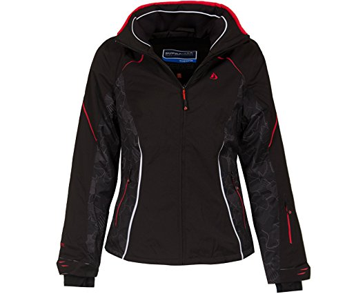 Bergson Damen Skijacke Frost, Black/Chinese red [9014], 42 - Damen