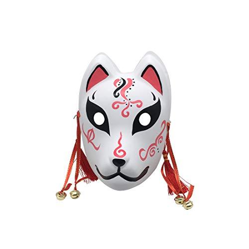 YangYong Masken für Cosplay, Kitsune/Kabuki, Fuchs/Katze, Maskenball, Rosa