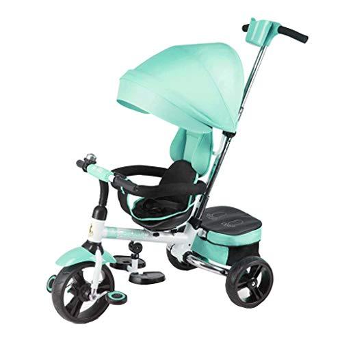 KSW_KKW Bicicletas for niños Bicicleta Infantil Plegable for niños de 6 Meses a 6 años del Muchacho y Chica Carros Asiento Puede Girar con Montar a Caballo al Aire Libre del toldo Kid