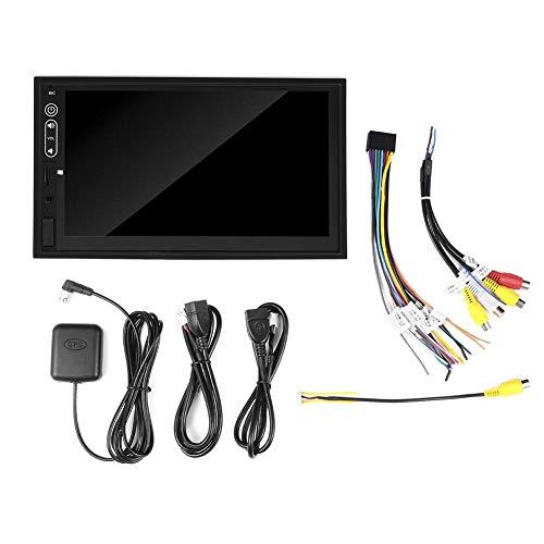 Navegación GPS, Navegador GPS Pantalla táctil de 7 pulgadas 2 Din MP5 Radio Reproductor multimedia de audio para Android 9.1
