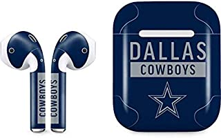 Skinit Decal Audio Skin for Apple AirPods with Lightning Charging Case - Officially Licensed NFL Dallas Cowboys Blue Performance Series Design