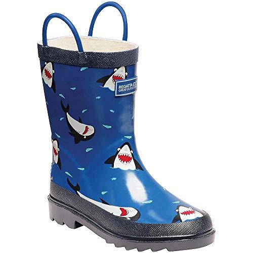 Regatta Minnow Jnr Welly Rain Boot, Shark/Nautic, 36 EU