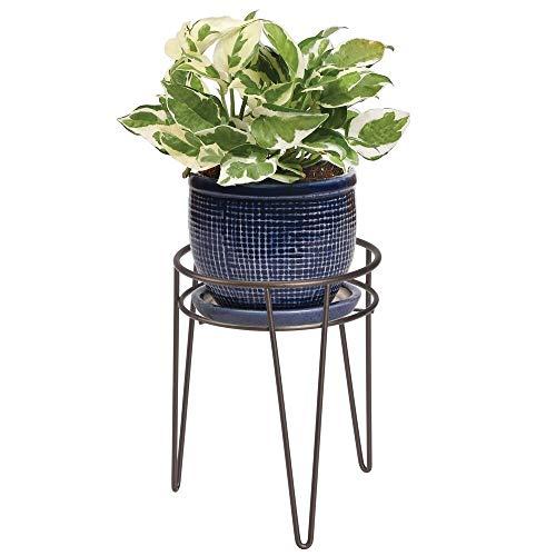 mDesign Midcentury Modern Flower Plant and Succulent Stand Minimalist Planter  Metal Indoor Outdoor Design Hairpin Legs  Sturdy  Bronze