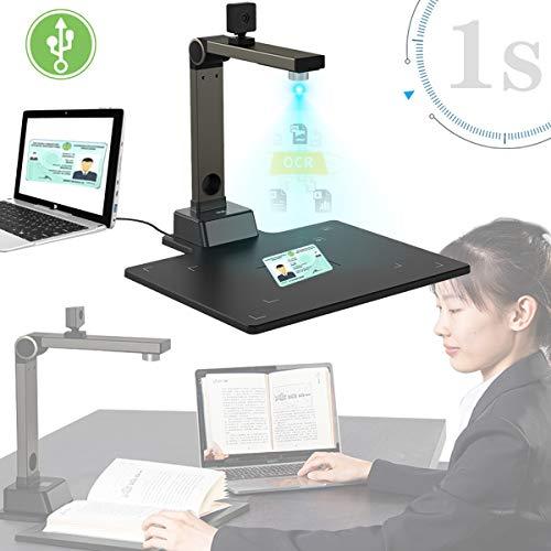 EnweLampi Smart Dokumentenscanner, Professioneller 12 Megapixel High Definition Dokumentenscanne, Automatische Reduzierung und Deskew, Nach PDF Konvertieren/Durchsuchbare PDF/Word/Tiff/Excel