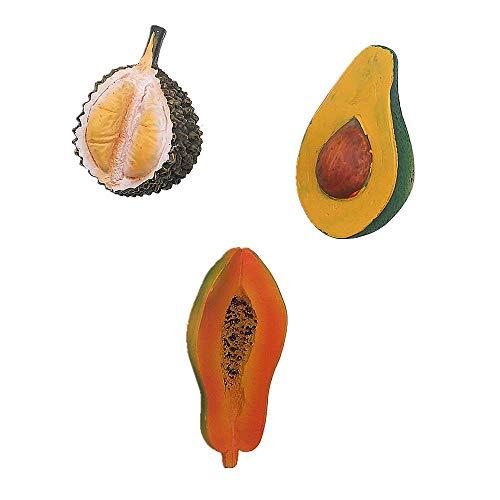 Papaya Avocado Durian 3D Koelkast Magneet Thuis Keuken Decoratie Handgemaakte hars Food Series Fruit Koelkast Magneet
