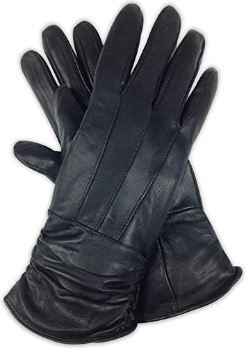 Bleu Nero Luxury Soft Women s Leather Gloves Genuine Nappa Sheepskin Leather with 3M Thinsulate product image