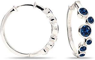 HIKARO Sterling Silver Jewelry Cubic-Zirconia Huggie Hoop Earrings for Women