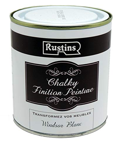 Rustins CHAPW250 Chalky Finish Paint Windsor White 250ml, 250 ml