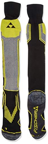Fischer Sports Herren Alpine Comfort Skisocken, Black/Yellow, 35
