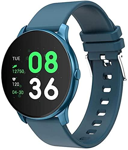 Reloj inteligente IP68 impermeable Smartwatch Actividad Fitness Reloj deportivo para hombre y mujer-Azul_Talla única