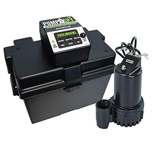 PumpSpy PS2000 WiFi Battery Backup Sump Pump System