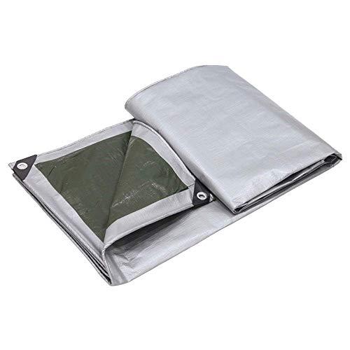 ZXL dekzeil, ultralicht PE dubbelzijdig composietmateriaal dubbelzijdig, regenbestendig zonwering overkappingsdoek driewielig vrachtwagenolie-overkapping zeildoek zwaar materiaal (maat: 8 mx 8 4mx10m