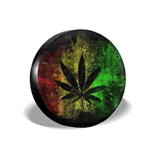 Cubierta DE LA Rueda Hierba de Hoja de Marihuana Reggae Rasta Universal Wheel Trims Accessories for Vehicles, Trailers, Motorhomes, SUV