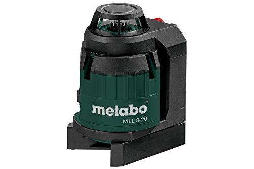 Metabo 606167000 MLL 3-20 (606167000) Multilinienlaser I Laserklasse 2 I Selbstnivellierend I Handlich und robust