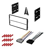 CACHÉ KIT998 Bundle with Car Stereo Installation Kit for 2006 – 2007 Ford Escape – in Dash Mounting Kit, Harness for Double Din Radio Receivers (3 Item)
