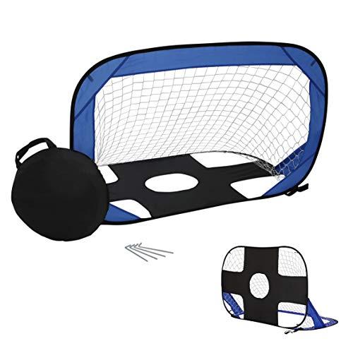 Porta da calcio da giardino (porta da calcio per bambini). Porta da calcio pop-up con bersaglio. Stabile, ripiegabile e portatile, si monta come una tenda istantanea. Dimensioni: 120 x 80 cm